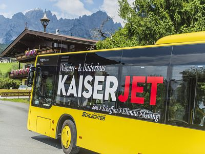Mobile on the Wilder Kaiser even without your own vehicle - KaiserJet: Wander-Bäder-Bus